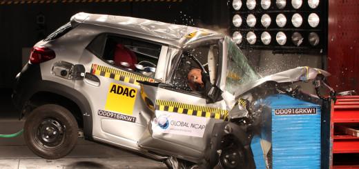 Renault Kwid při crash testu, zdroj: Global NCAP