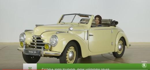 Škoda 1101 Tudor, zdroj: Youtube/Škoda auto Česká republika
