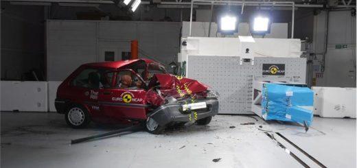 Rover 100 po crashtestu, zdroj: Euro NCAP