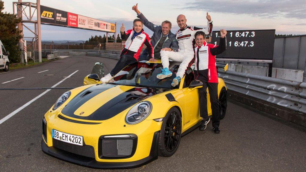 Porsche 911 GT2 RS stanovilo nový rekord na Nordschelife. foto: Porsche