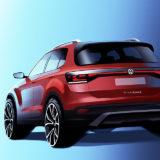 Volkswagen T-Cross na první skice, foto: Volkswagen