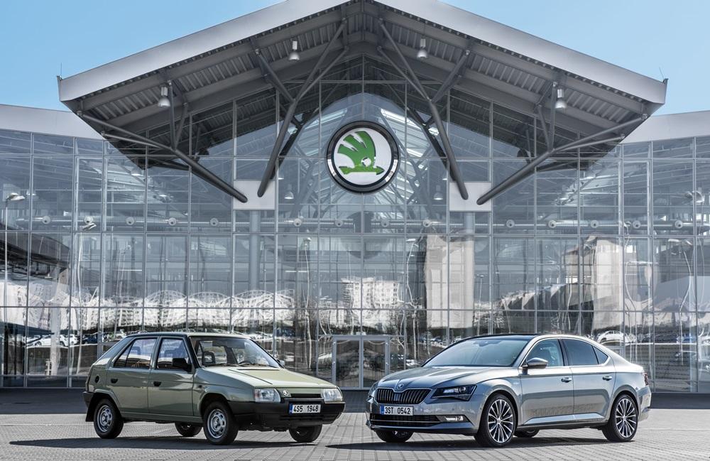 Škoda auto v roce 1991 a 2016. Zdroj: Škoda auto