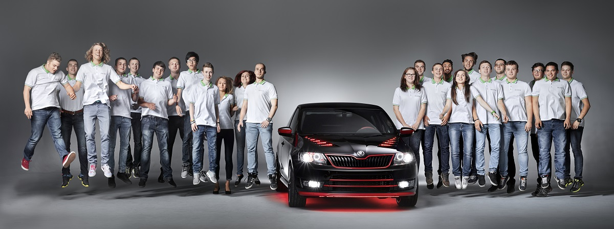 Škoda Atero se svými tvůrci, zdroj: Škoda auto