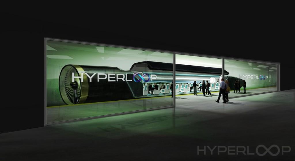 Vize osobní dopravy firmy Hyperloop One, zdroj: hyperloop-one.com