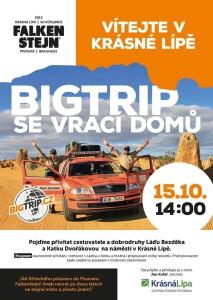 Plakát k návratu českých cestovatelů, zdroj: Facebook/Krásná Lípa