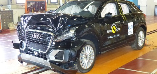 Audi Q2 po nárazovém testu, zdroj: Euro NCAP