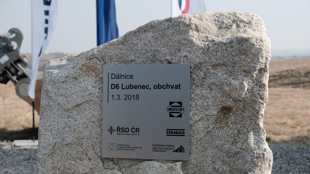 Základní kámen obchvatu Lubence, zdroj: ministerstvo dopravy ČR