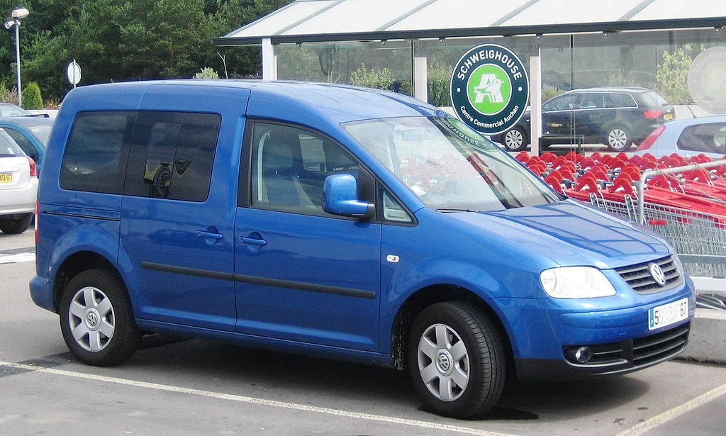 Volkswagen Caddy,foto: Charles01 - vlastní dílo, CC BY-SA 3.0, https://commons.wikimedia.org/w/index.php?curid=4418841