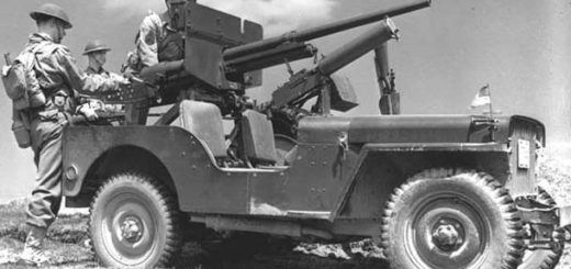 Willys MB Jeep (1942) v bojové úpravě, foto: volné dílo, https://commons.wikimedia.org/w/index.php?curid=198329