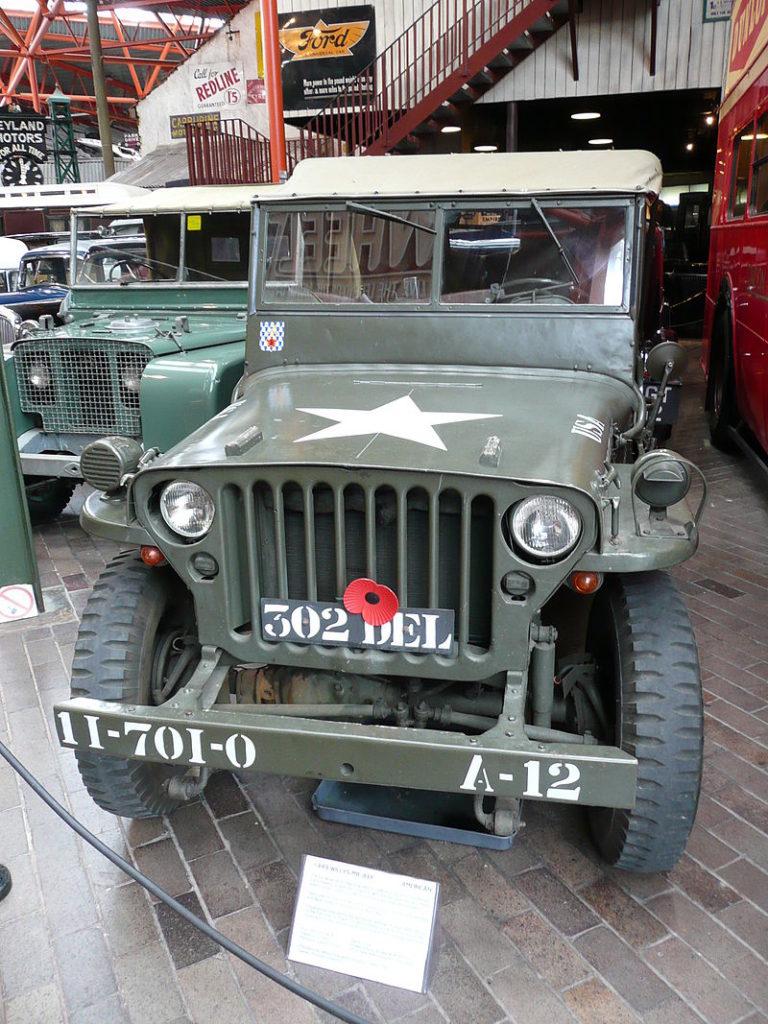 Willys MB Jeep (1943), foto:Przemysław JahrAutorem zdjęcia jest Przemysław Jah/ Wikimedia Commons - volné dílo, https://commons.wikimedia.org/w/index.php?curid=4321845