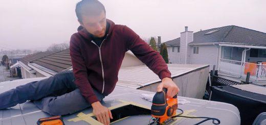 Přestavba dodávky na obytný vůz, zdroj: Youtube